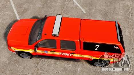 GMC Sierra 2500HD 2010 FDNY [ELS] para GTA 4 vista direita