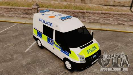 Ford Transit 2013 Police [ELS] para GTA 4 vista superior