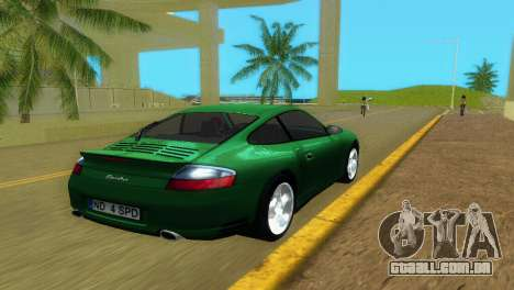Porsche 911 Turbo para GTA Vice City vista traseira esquerda