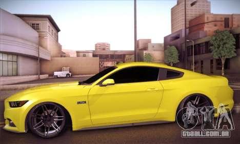 Ford Mustang 2015 Swag para GTA San Andreas traseira esquerda vista