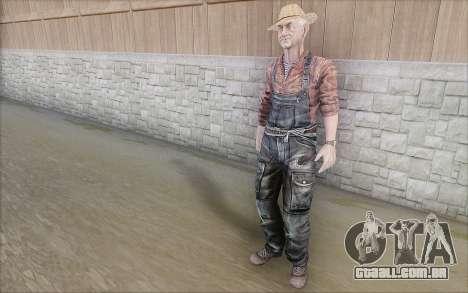 Agricultor para GTA San Andreas por diante tela