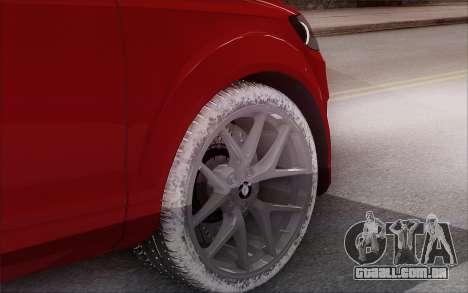 Audi Q7 Winter para GTA San Andreas traseira esquerda vista