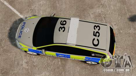 Ford Focus Estate Norfolk Constabulary [ELS] para GTA 4 vista direita