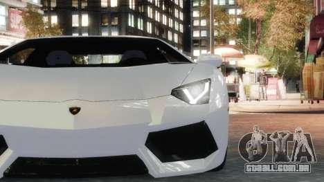 Lamborghini Aventador LP700-4 [EPM] 2012 para GTA 4 vista de volta