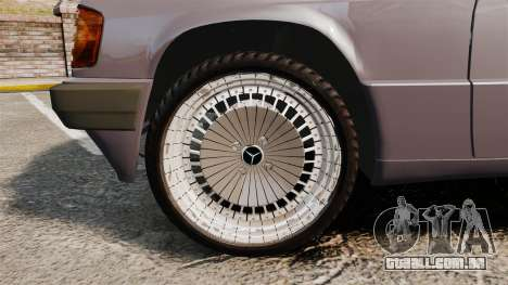 Mercedes-Benz E190 W201 para GTA 4 vista de volta