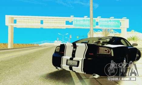 Dodge Charger DUB para GTA San Andreas vista traseira
