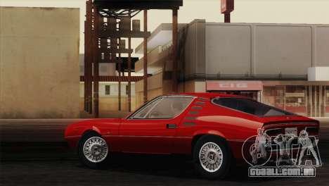 Alfa Romeo Montreal (105) 1970 para GTA San Andreas vista interior
