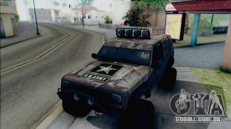 Jeep Cherokee 1984 Sandking para GTA San Andreas vista superior