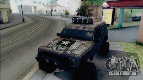 Jeep Cherokee 1984 Sandking para GTA San Andreas vista superior