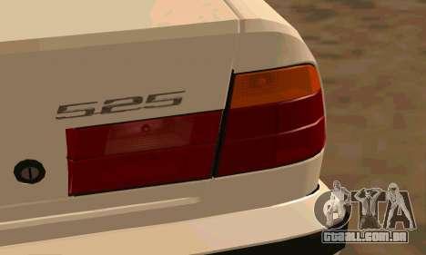 BMW 525 para GTA San Andreas vista traseira
