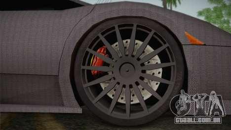 Lamborghini Murcielago GT Carbone para GTA San Andreas vista traseira
