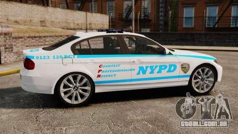 BMW 350i NYPD [ELS] para GTA 4 esquerda vista