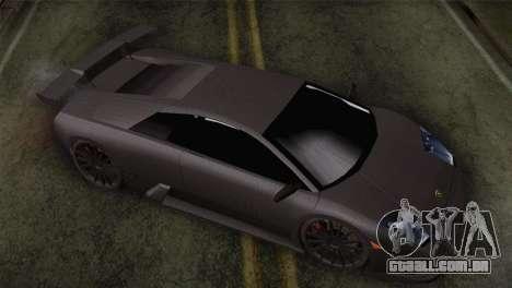 Lamborghini Murcielago GT Carbone para GTA San Andreas vista direita