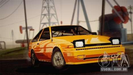 Toyota Corolla GT-S AE86 1985 para GTA San Andreas traseira esquerda vista