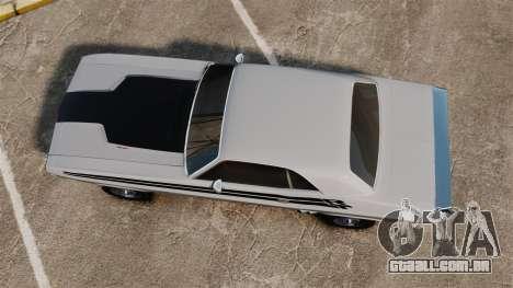 Dodge Challenger 1971 v1 para GTA 4 vista direita