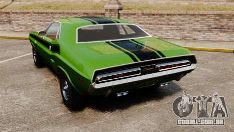 Dodge Challenger 1971 v2 para GTA 4 traseira esquerda vista
