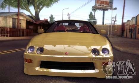 Honda Integra Drift para GTA San Andreas traseira esquerda vista