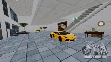 Exposição de carros Lamborghini para GTA 4 quinto tela