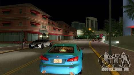 Lexus IS-F para GTA Vice City vista direita