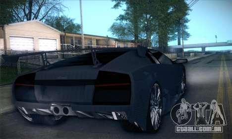 Lamborghini Murcielago GT Carbone para GTA San Andreas vista inferior