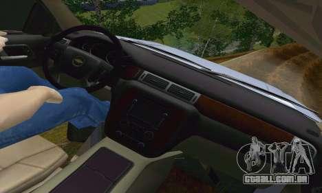 Chevrolet Suburban 2008 para GTA San Andreas vista superior