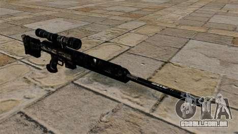 Rifle sniper em uniformes de camuflagem azul esc para GTA 4