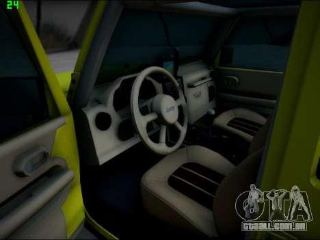 Jeep Wrangler Unlimited 2007 para GTA San Andreas vista traseira