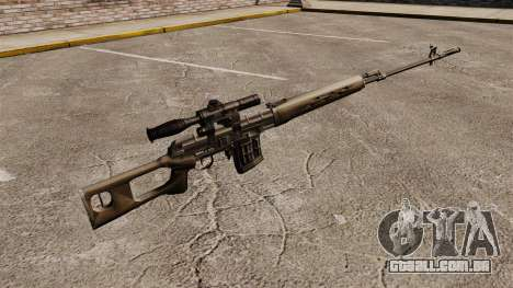 Dragunov sniper rifle v2 para GTA 4 segundo screenshot