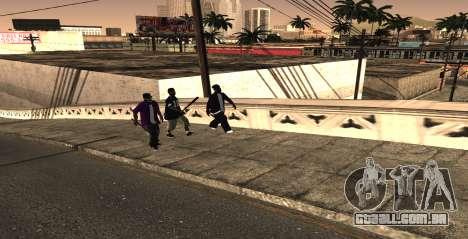HQ SkinPack Ballas para GTA San Andreas segunda tela
