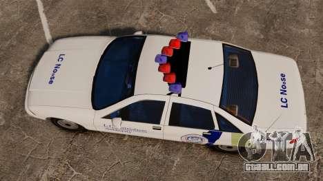 Chevrolet Caprice Police 1991 v2.0 N.o.o.s.e para GTA 4 vista direita