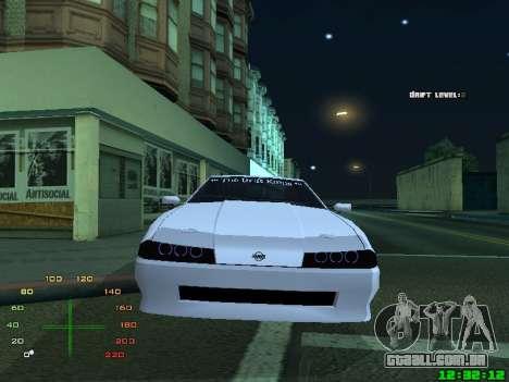 Elegy TDK-The Drift Kings para GTA San Andreas traseira esquerda vista