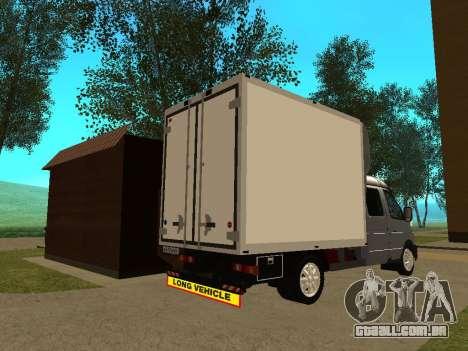 33023 gazela negócios para GTA San Andreas vista direita