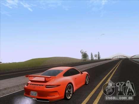 Porsche 911 GT3 2014 para GTA San Andreas traseira esquerda vista