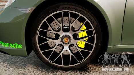 Porsche 911 Turbo 2014 [EPM] Ghosts para GTA 4 vista de volta