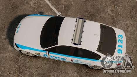 BMW 350i NYPD [ELS] para GTA 4 vista direita