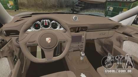 Porsche 911 Sport Classic 2010 para GTA 4 vista de volta