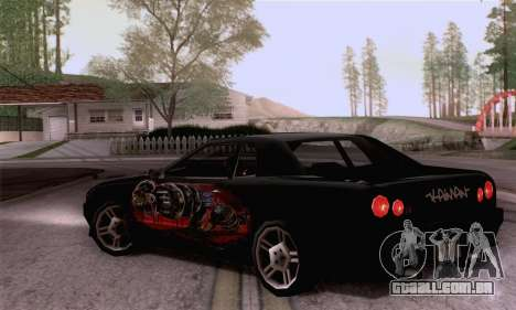 O trabalho de pintura para a elegia para GTA San Andreas esquerda vista