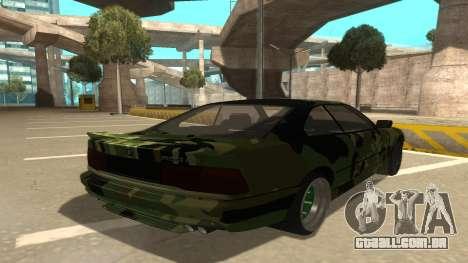 BMW 850CSi 1996 Military Version para GTA San Andreas vista direita