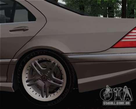Mercedes-Benz AMG S65 2004 para GTA San Andreas traseira esquerda vista