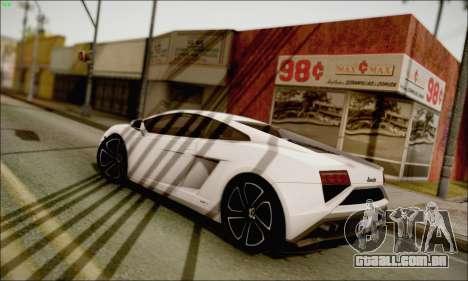 Lamborghini Gallardo LP560-4 2013 para GTA San Andreas esquerda vista