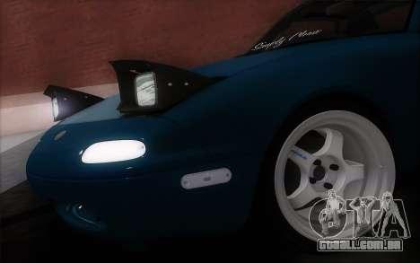 Mazda Miata para GTA San Andreas traseira esquerda vista