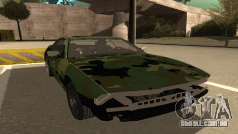 BMW 850CSi 1996 Military Version para GTA San Andreas esquerda vista