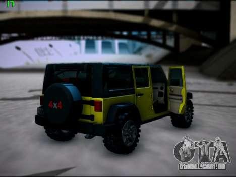 Jeep Wrangler Unlimited 2007 para GTA San Andreas vista direita