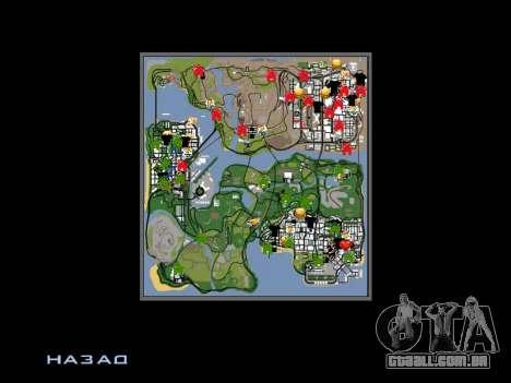 Novo capô e ícones no mapa para GTA San Andreas