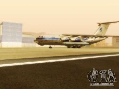 Il-76td Gazpromavia para GTA San Andreas esquerda vista