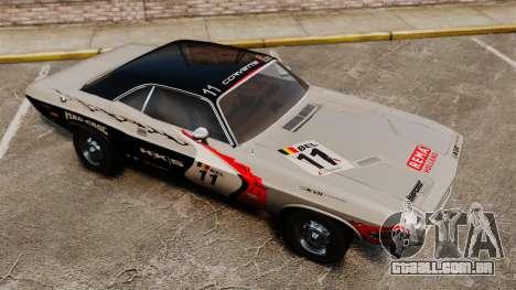 Dodge Challenger 1971 v2 para GTA 4 vista inferior