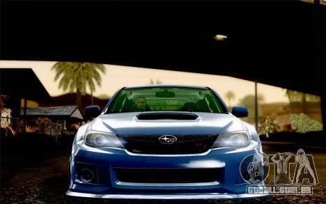 Subaru Impreza WRX STi 2011 para GTA San Andreas vista interior
