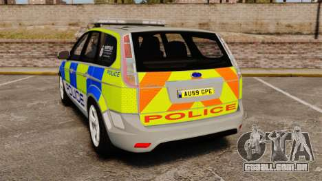 Ford Focus Estate Norfolk Constabulary [ELS] para GTA 4 traseira esquerda vista