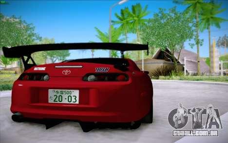 Toyota Supra RZ 1998 Drift para GTA San Andreas traseira esquerda vista
