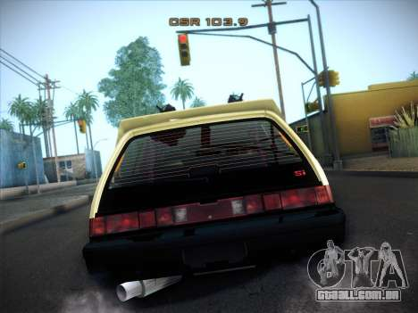 Honda Civic Si 1986 para GTA San Andreas vista interior